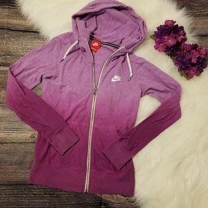 Nike Purple Gradient Zip-Up Hoodie